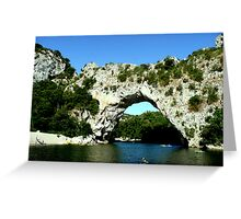 Pont d'Arc Greeting Card