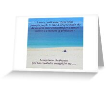 Nature against drugs Greeting Card