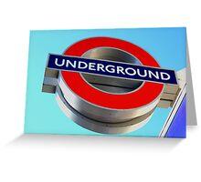 London Underground Greeting Card