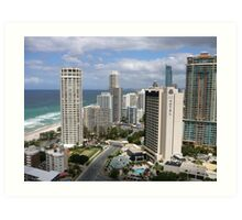 Surfers Paradise from Suncity Rooftop Art Print