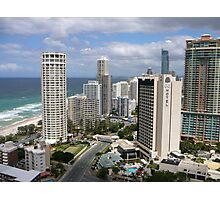 Surfers Paradise from Suncity Rooftop Photographic Print