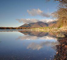 Skiddaw Reflections On Derwentwater by Jacqueline Wilkinson