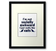 I Just Really Like Cats Framed Print