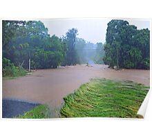 Cedar Creek, 100 Metres From Our Home. Brisbane Floods January 2011, Queensland, Australia.  Poster