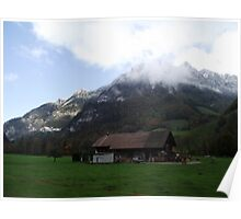 Shack in the Swiss Alps Poster