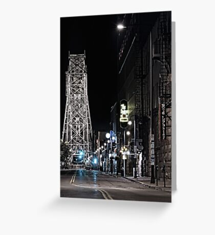 2 A.M. on South Lake Ave Greeting Card