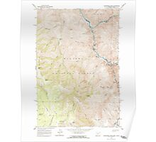 USGS Topo Map Oregon Deadhorse Ridge 279584 1963 24000 Poster