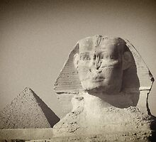 Giza Sphinx - A Watchful Gaze by Norman Repacholi