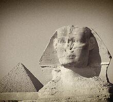 Giza Sphinx - A Watchful Gaze by Norman Repacholi