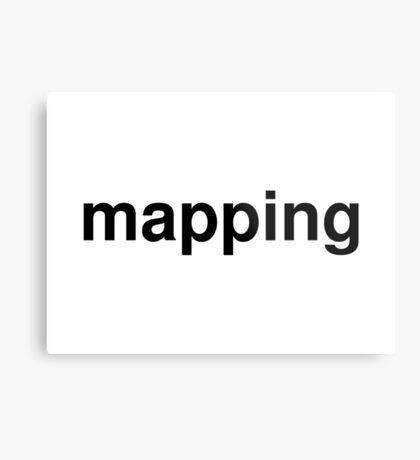 mapping Metal Print