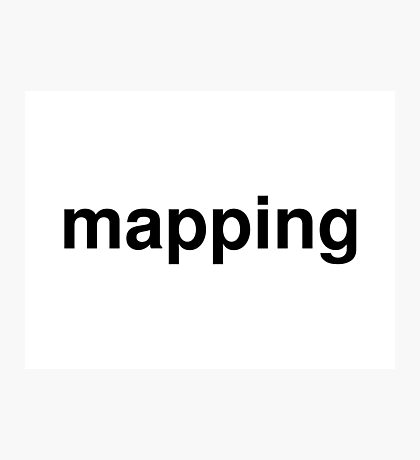 mapping Photographic Print
