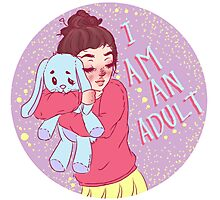 I am an adult. by Ane Teruel Photographic Print