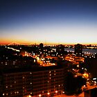 Windsor/Detroit Skyline at Sunset I by Graham Beatty