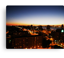 Windsor/Detroit Skyline at Sunset I Canvas Print