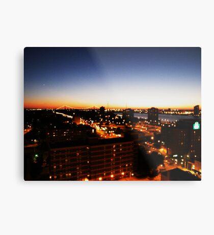 Windsor/Detroit Skyline at Sunset I Metal Print