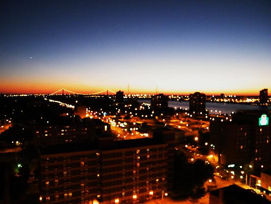 Windsor/Detroit Skyline at Sunset I by Graham Beatty