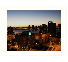 Windsor/Detroit Skyline at Sunset II Art Print