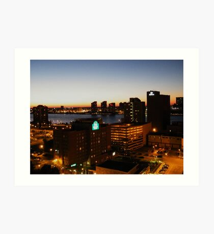 Windsor/Detroit Skyline at Sunset II Art Print