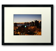 Windsor/Detroit Skyline at Sunset II Framed Print