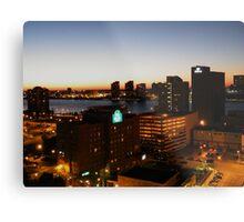 Windsor/Detroit Skyline at Sunset II Metal Print