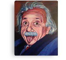 SIlly Einstein Canvas Print