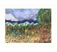 """Busy River""  Art Print"