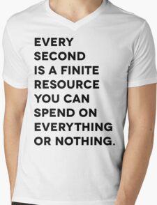 Every Second Mens V-Neck T-Shirt