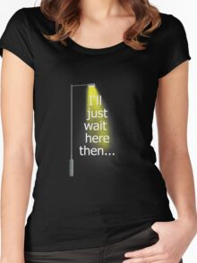 Supernatural I'll Just Wait Here Then Women's Fitted Scoop T-Shirt