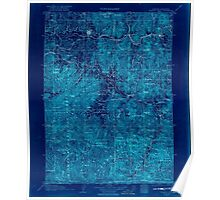 USGS Topo Map Oregon Grants Pass 283180 1908 125000 Inverted Poster