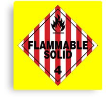 Flammable Solid Canvas Print