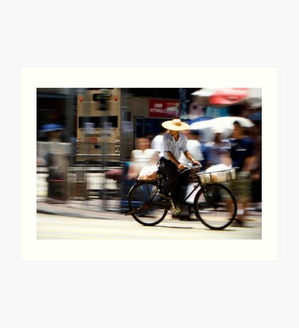 Hong Kong by Bike Art Print