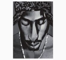 Tupac black and white by paintingsbycr10