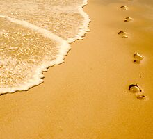 Beach Footsteps by Adam Booth