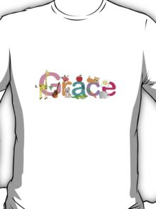 Custom Name clothing and stickers - Grace T-Shirt