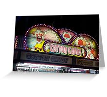 Cotton candy all up in lights Greeting Card