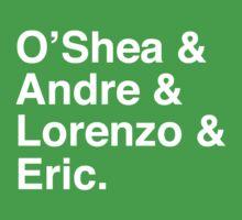 O'Shea & Andre & Lorenzo & Eric NWA T-Shirt One Piece - Short Sleeve