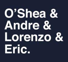 O'Shea & Andre & Lorenzo & Eric NWA T-Shirt One Piece - Long Sleeve