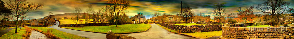 Downham Village & Countryside , full pano.  by Irene  Burdell
