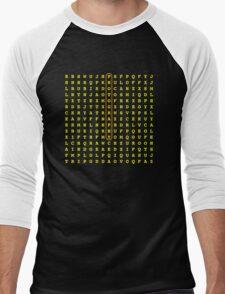 Photographer Word Search Men's Baseball ¾ T-Shirt