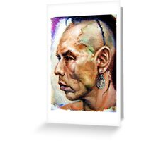 Wes Studi as Magua In The Last Of The Mohicans  Greeting Card