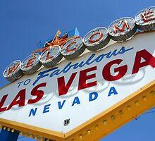Las Vegas Sign by Adam Booth