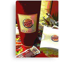 Burger King Stuff Canvas Print