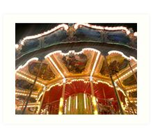 Roundy-round the carousel Art Print