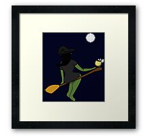 The Witch and The Frog (Crossover) Framed Print