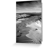 snow capped sleiveleague Greeting Card