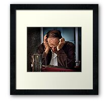 the last straw Framed Print