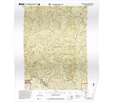 USGS Topo Map Oregon Fourth of July Creek 279938 1996 24000 Poster