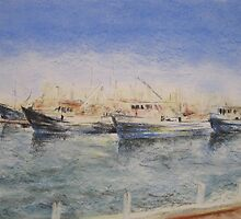 The Fishing Fleet at Fremantle Fishing Boat Harbour by Michelle Gilmore