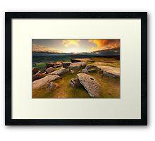 Curbar Edge Sunset Framed Print