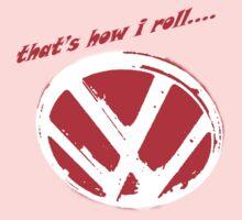 VW logo - that's how i roll...  Kids Tee